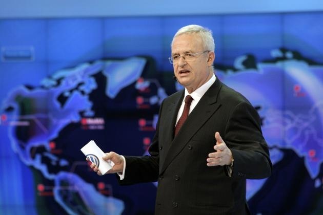 Martin Winterkorn, ancien patron de Volkswagen, le 9 janvier 2012 à Detroit (Michigan, Etats-Unis) [BILL PUGLIANO / GETTY IMAGES NORTH AMERICA/AFP/Archives]