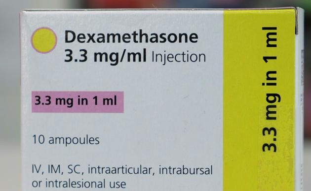 Une boîte de dexamethasone en injection, le 16 juin 2020 dans une pharmacie de Londres [Arman SOLDIN / AFP]