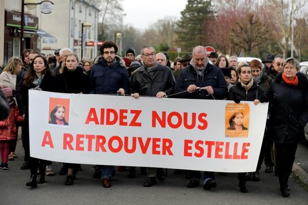 Une marche silencieuse en mémoire d'Estelle Mouzin, le 13 janvier 2018 à Guermantes (Seine-et-Marne) [Thomas Samson / AFP/Archives]