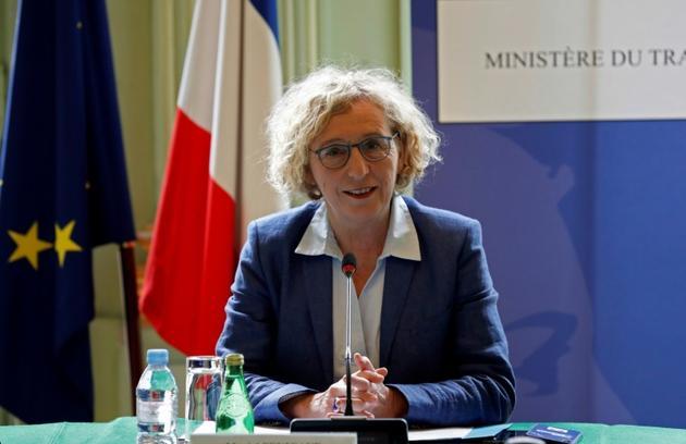 La ministre du Travail Muriel Pénicaud lors d'une réunionn avec les partenaires sociaux sur la situation de l'emploi en France, le 9 juin 2020 à Paris [Thomas COEX / AFP/Archives]