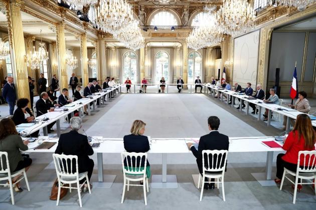 Le premier Conseil des ministres du gouvernement Castex, à Paris le 7 juillet 2020 [Ian LANGSDON / POOL/AFP]