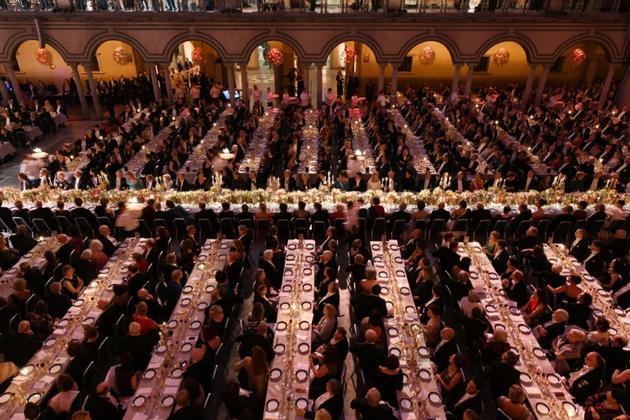 Le banquet du Nobel de la paix le 10 décembre 2019 à Stockholm [Jonathan NACKSTRAND / AFP/Archives]
