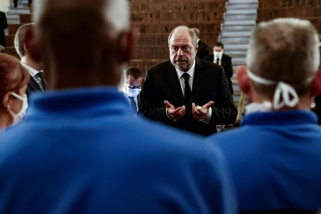 Le ministre de la Justice Eric Dupond-Moretti, à la prison de Fresnes le 7 juillet 2020 [Thomas COEX / POOL/AFP]