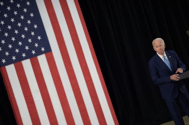 Joe Biden lors d'un discours à Wilmington, dans le Delaware, le 30 juin 2020 [Brendan Smialowski / AFP]