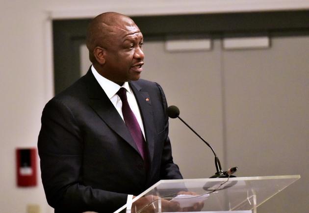 Le ministre ivoirien de la Défense Ahmed Bakayoko, le 27 mai 2016 à Abidjan alors qu'il était ministre de l'Intérieur [ISSOUF SANOGO / AFP/Archives]