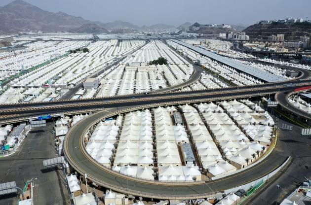 Vue aérienne de tentes pour les pélerins à La Mecque le 27 juillet 2020  [- / AFP]