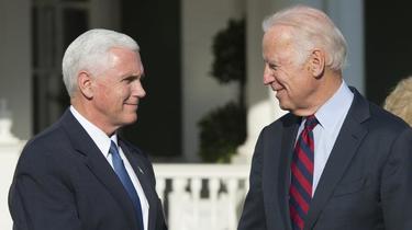 Joe Biden (à droite) a été le vice-président de Barack Obama, avant de laisser sa place à Mike Pence (à gauche), après l'élection de Donald Trump en 2016.