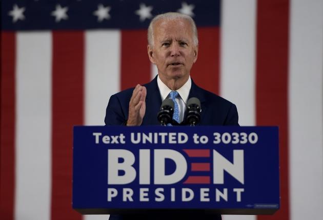 Joe Biden lors d'un meeting de campagne, le 30 juin 2020 à Wilmington, dans le Delaware [Brendan Smialowski / AFP/Archives]