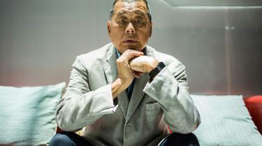 Le patron de presse prodémocratie hongkongais Jimmy Lai lors d'un entretien avec l'AFP à Hong Kong, le 16 juin 2020 [Anthony WALLACE / AFP/Archives]