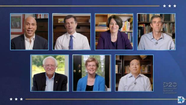 Sept anciens rivaux de Joe Biden aux primaires ont fait son éloge lors de la convention d'investiture [- / DEMOCRATIC NATIONAL CONVENTION/AFP]
