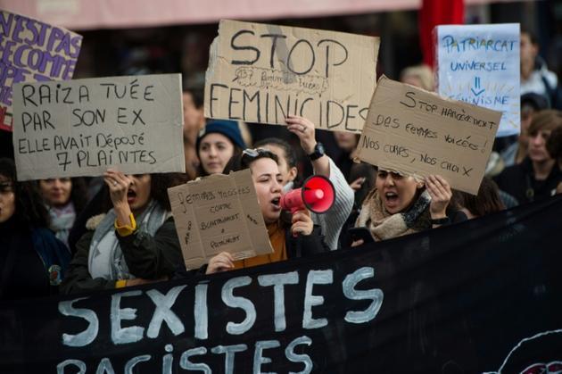 Une manifestation contre les violences contre les femmes, le 23 novembre 2019 à Marseille [CLEMENT MAHOUDEAU / AFP]