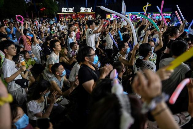 Festival de musique à Wuhan, dans la province chinoise du Hubei, le 4 août 2020  [Hector RETAMAL / AFP]