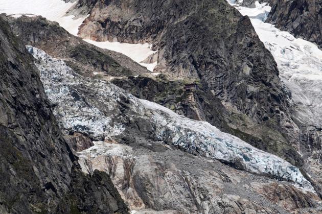 Le glacier de Planpincieux à Courmayeur, le 6 août 2020 au Val Ferret, en Italie [MARCO BERTORELLO / AFP]