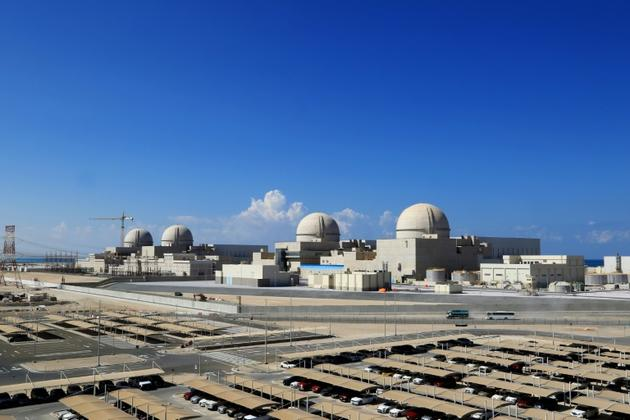 Avec ses quatre réacteurs, la centrale nucléaire doit fournir environ 25% des besoins des Emirats [- / Barakah Nuclear Power Plant/AFP/Archives]