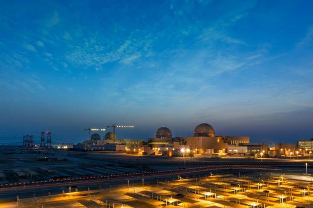 La centrale nucléaire de Barakah aux Emirats arabes unis, photo diffusée le 1er août 2020 [STRINGER / WAM/AFP]