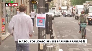 Masque obligatoire : les Parisiens partagés