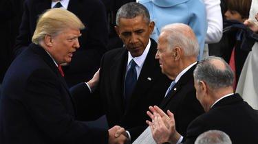 Les photos de Joe Biden et Donald Trump ensemble ne sont pas nombreuses