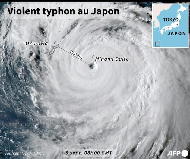Violent typhon au Japon [ / AFP]