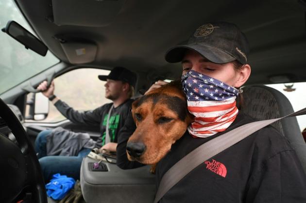 James Smith, victime de plusieurs cambriolages alors qu'il avait évacué Escatada (Oregon), le 12 septembre 2020<br />  [Robyn Beck / AFP]