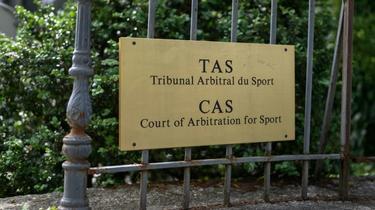 Entrée du Tribunal arbitral du sport (TAS) à Genève, le 8 juin 2020 [Fabrice COFFRINI / AFP/Archives]