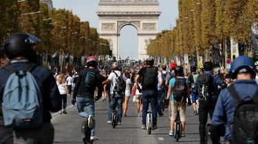 Photo prise lors de la 4e édition de la Journée sans voiture.