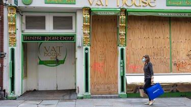 Les commerces non essentiels ont de nouveau fermés leurs portes en Irlande