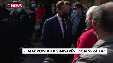 Alpes-Maritimes : «On sera là», assure Emmanuel Macron aux sinistrés