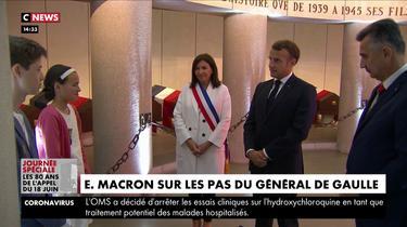 18-juin : Emmanuel Macron sur les pas du général de Gaulle