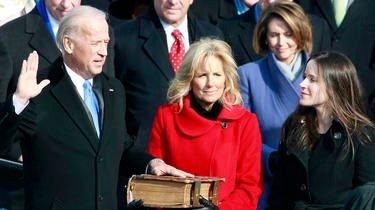 Joe Biden lors de son investiture en tant que vice-président en 2008