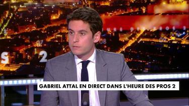 Gabriel Attal, à propos du slogan : «L'important c'est qu'on en parle»