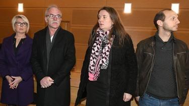 Les parents d'Alexia (à gauche), sa soeur et son beau-frère, le 30 octobre 2018.