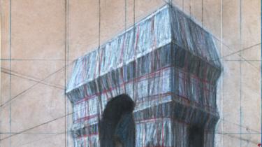 Christo avait réalisé quantité de dessins préparatoires à l'empaquetage de l'Arc de triomphe prévu en septembre