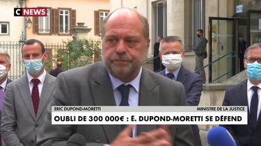 Oubli de 300.000 € : Éric Dupond-Moretti se défend