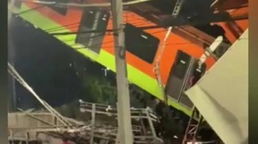 Mexico : pont effondré au passage d'un métro