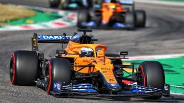 Daniel Ricciardo s'est imposé à Monza devant son coéquipier Lando Norris.